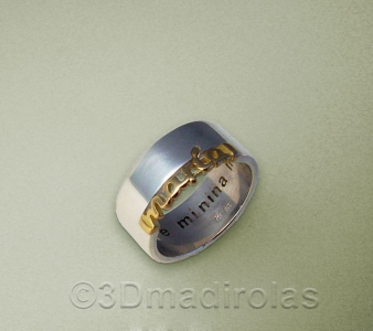 Personalized gold/silver ring