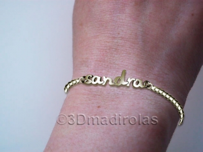 Silver wrist chain (3,5mm wide )with a NAME.