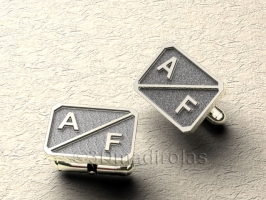 cufflinks customized with 2 first letter.