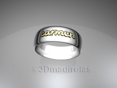 Personalized gold/silver ring 1 name
