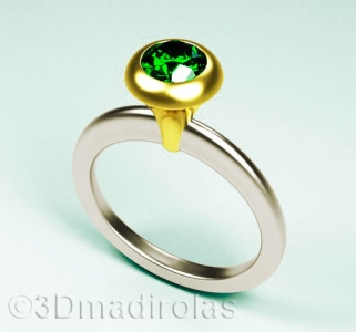 CUP ring: Silver 925/Gold 24k.
