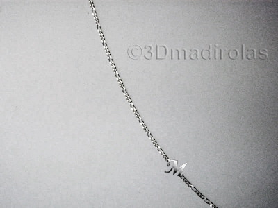 Silver chain with a Capital letter.
