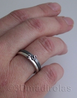 Personalized silver rings with letters.