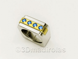 ORIGINAL ring: Silver 925/Gold 24k.
