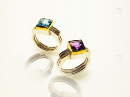 INCA rings: Silver 925/Gold 24k.