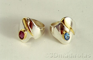 LAD rings: Silver 925/Gold 24k.