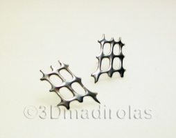 Modern design. Silver earrings.