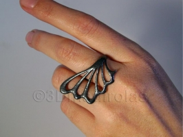 Sterling silver ring (texture and patina).